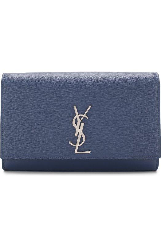 Купить Сумка Monogram Kate medium Saint Laurent, 364021/B0W0N, Италия, Синий, Вискоза: 100%; Кожа натуральная: 100%;