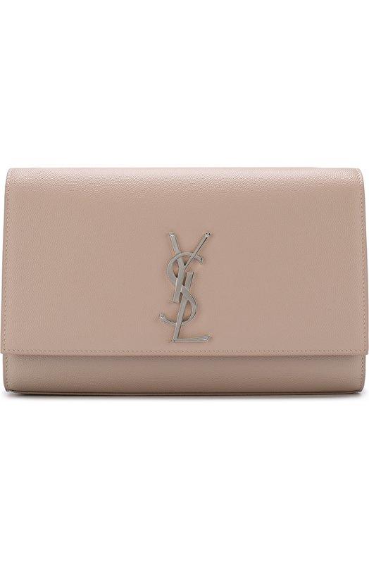 Купить Сумка Monogram Kate medium Saint Laurent, 364021/B0W0N, Италия, Светло-розовый, Вискоза: 100%; Кожа натуральная: 100%;