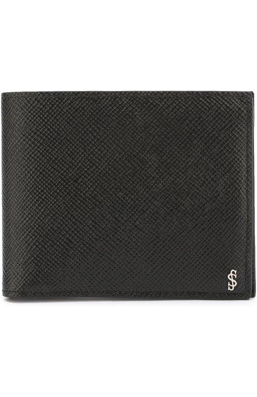 Купить Кожаное портмоне с отделениями для кредитных карт Serapian, SEV0EMSL6239M11B, Италия, Черный, Кожа натуральная: 100%;
