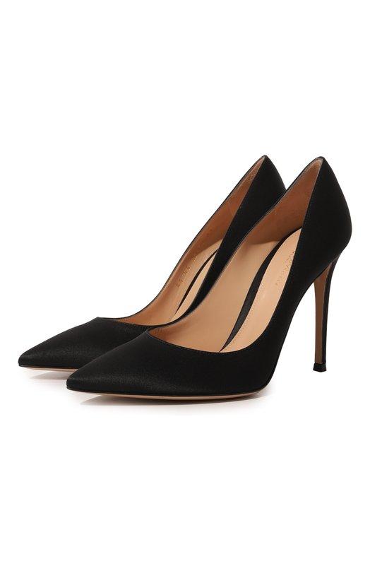 Купить Атласные туфли Gianvito 105 на шпильке Gianvito Rossi, G28470.15RIC.RASNER0, Италия, Черный, Стелька-кожа: 100%; Подошва-кожа: 100%; Текстиль: 100%;