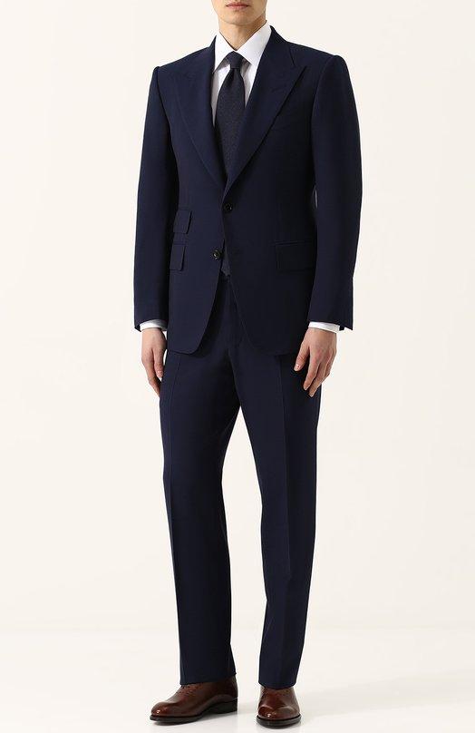 Шерстяной костюм с пиджаком на двух пуговицах Tom Ford