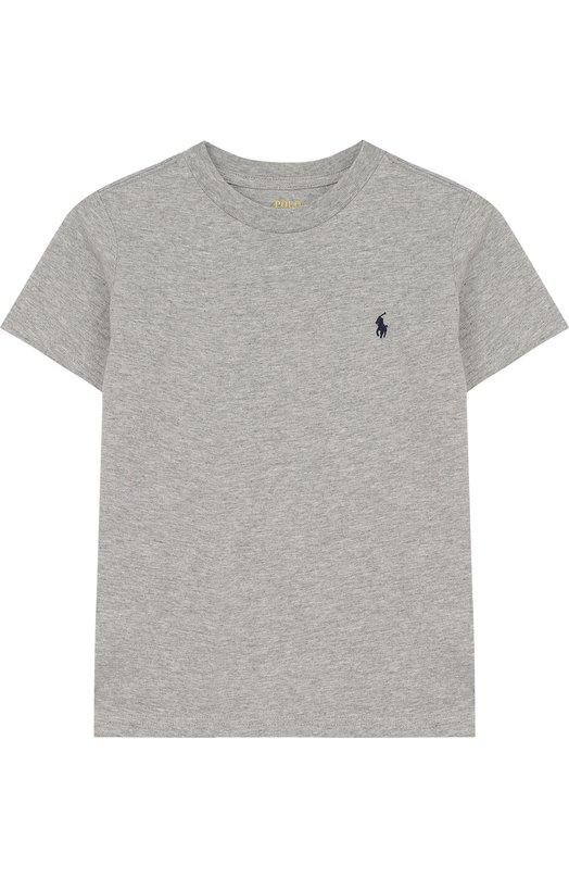 Купить Хлопковая футболка с логотипом бренда Polo Ralph Lauren, 321674984, Гватемала, Серый, Хлопок: 100%;