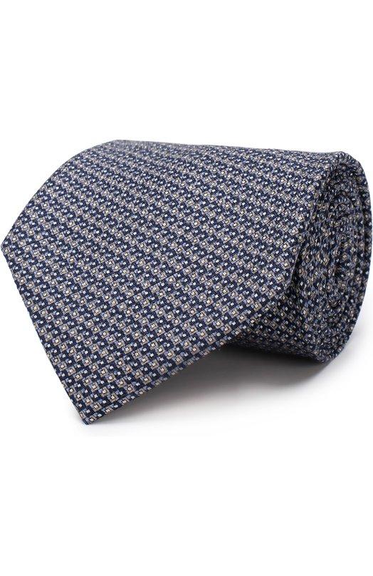 Купить Шелковый галстук Brioni, 063I00/P7433, Италия, Темно-синий, Шелк: 100%;