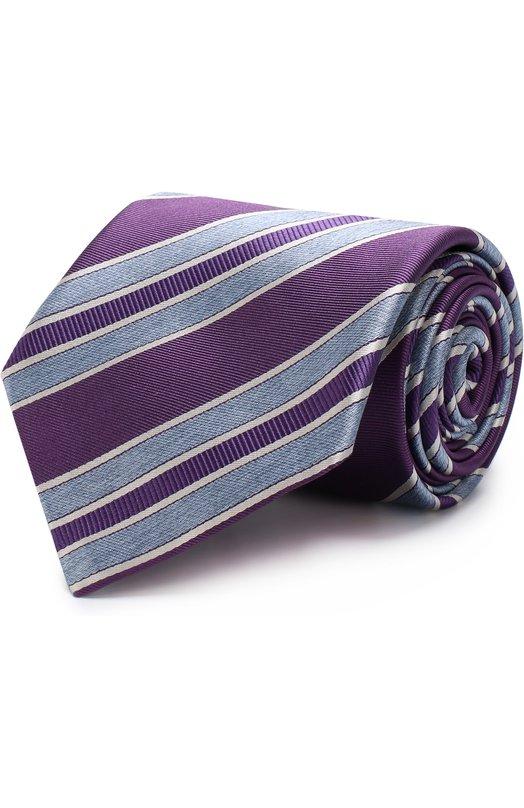 Купить Шелковый галстук Brioni, 063I00/P7493, Италия, Фиолетовый, Шелк: 100%;