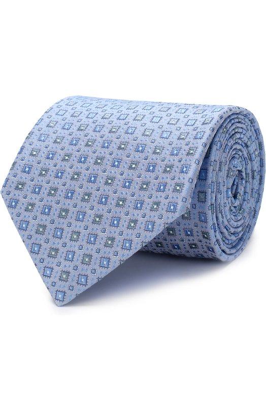 Купить Шелковый галстук Brioni, 063I00/P7496, Италия, Голубой, Шелк: 100%;