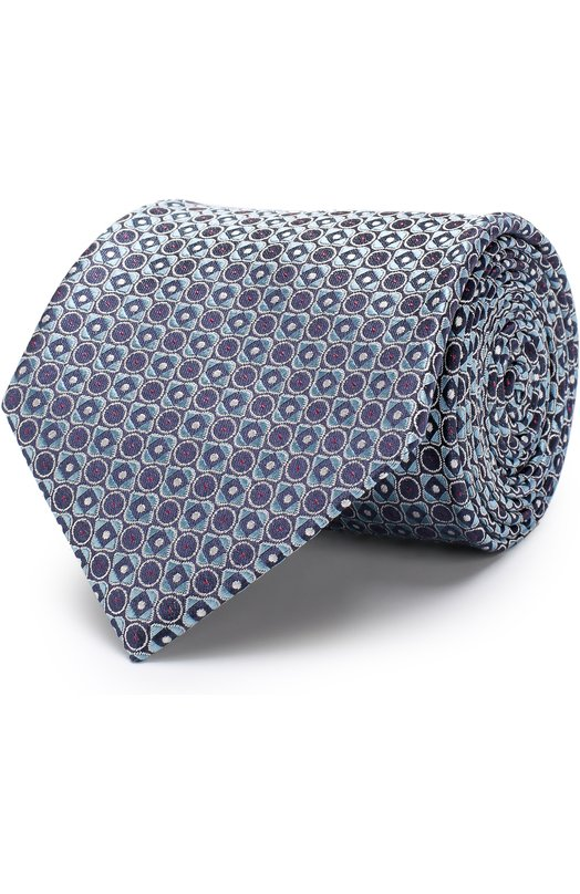 Купить Шелковый галстук Brioni, 062H00/P7417, Италия, Бирюзовый, Шелк: 100%;