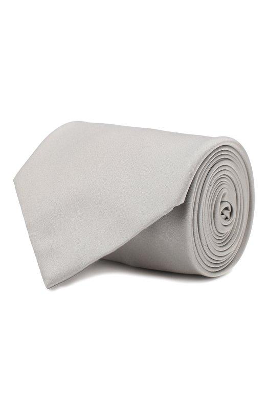 Купить Шелковый галстук Brioni, 062I00/P446Z, Италия, Серый, Шелк: 100%;