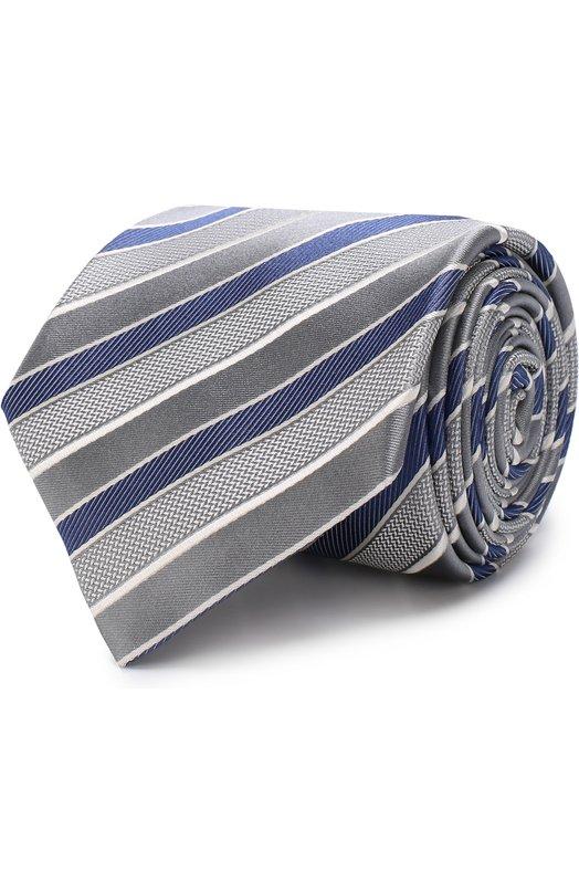 Купить Шелковый галстук Brioni, 062I00/P7469, Италия, Серый, Шелк: 100%;