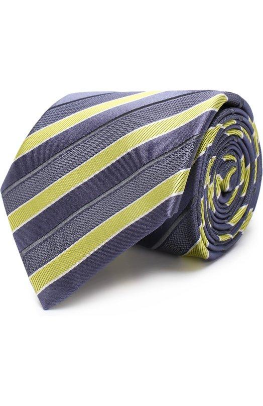Купить Шелковый галстук Brioni, 062I00/P7469, Италия, Желтый, Шелк: 100%;