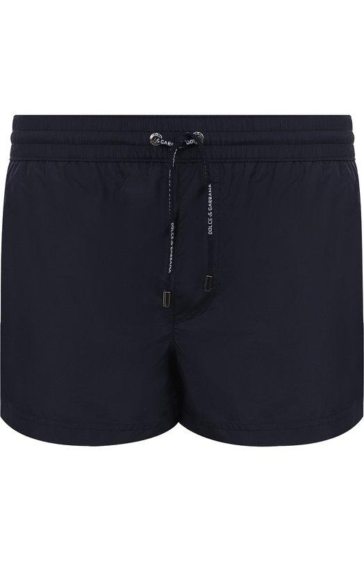 Купить Плавки-шорты с карманами Dolce & Gabbana, M4A01T/FUSEM, Италия, Темно-синий, Подкладка-полиамид: 85%; Подкладка-эластан: 15%; Полиэстер: 100%;
