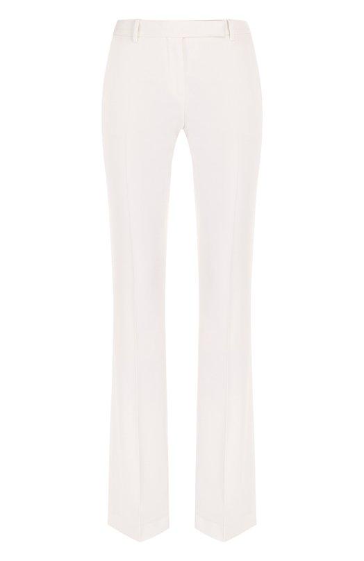 Купить Шерстяные расклешенные брюки со стрелками Alexander McQueen, 442634/QKJ12, Италия, Белый, Шерсть: 100%; Подкладка-купра: 100%;