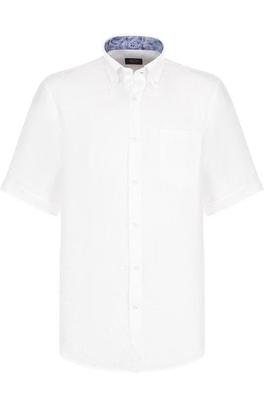 Купить Льняная рубашка с воротником button down Paul&Shark, E18P3153, Италия, Белый, Лен: 100%;