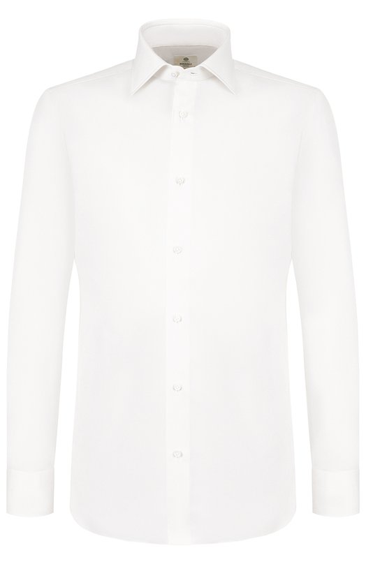 Купить Хлопковая сорочка с воротником кент Luigi Borrelli, EV08/TS5222, Италия, Кремовый, Хлопок: 100%;