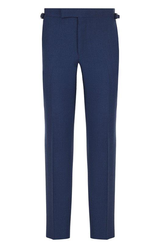 Купить Шерстяные брюки прямого кроя Tom Ford, 322R76/610043, Швейцария, Синий, Шерсть: 100%; Подкладка-купра: 100%;