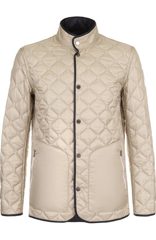 Купить Двусторонняя стеганая куртка на кнопках Z Zegna, VP010/ZZ124, Китай, Темно-синий, Полиамид: 100%; Подкладка-полиамид: 100%;
