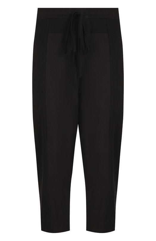 Купить Хлопковые укороченные брюки с заниженной линией шага Lost&Found, M22.717.661R, Италия, Черный, Хлопок: 100%;
