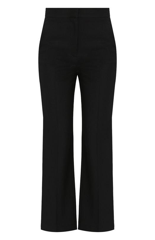 Купить Укороченные расклешенные брюки из шерсти Stella McCartney, 503090/SFB18, Венгрия, Черный, Шерсть: 100%;