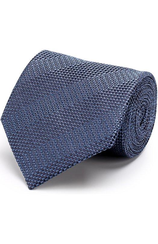 Купить Шелковый галстук Giorgio Armani, 360054/7A905, Италия, Синий, Шелк: 100%;
