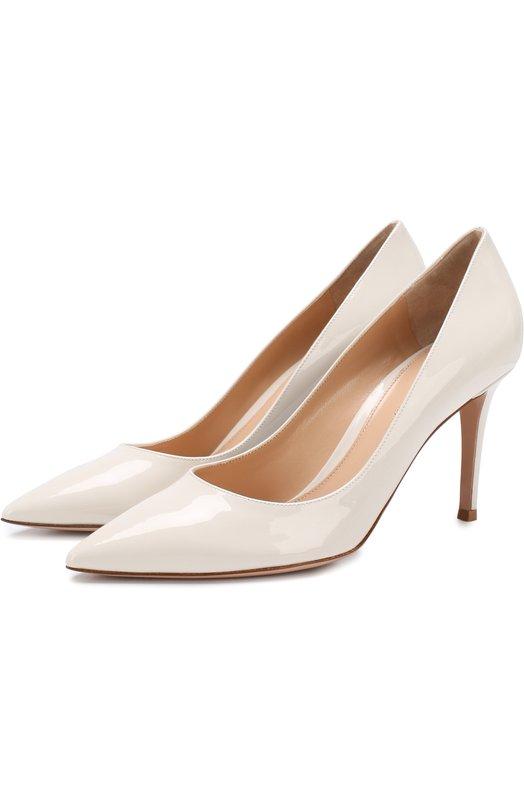 Купить Лаковые туфли Gianvito 85 на шпильке Gianvito Rossi, G24580.85RIC.VER0FFW, Италия, Белый, Кожа натуральная: 100%; Стелька-кожа: 100%; Подошва-кожа: 100%;