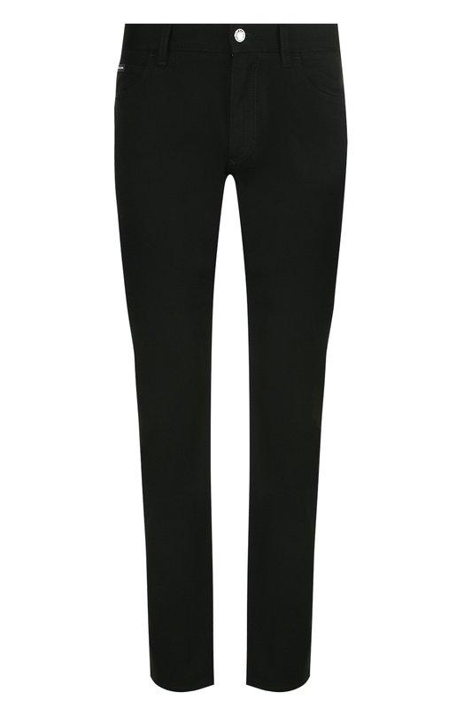 Купить Джинсы прямого кроя Dolce & Gabbana, GY70CD/G8Y32, Италия, Черный, Хлопок: 60%; Лайкра: 40%;