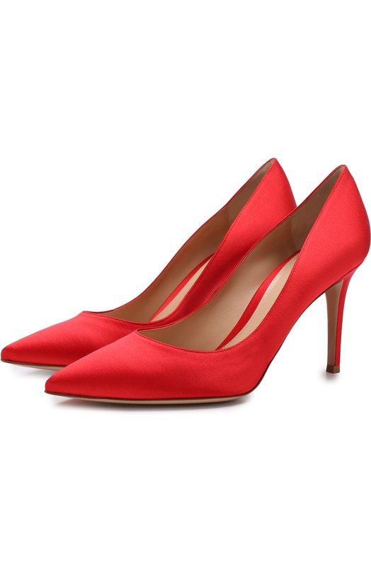 Купить Атласные туфли Gianvito 85 на шпильке Gianvito Rossi, G24580.85RIC.RASTABS, Италия, Красный, Стелька-кожа: 100%; Подошва-кожа: 100%; Текстиль: 100%;