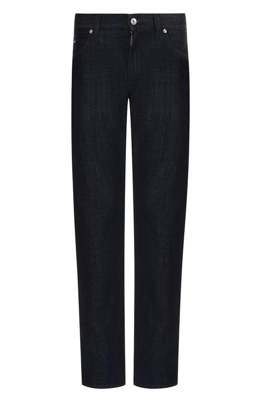 Купить Джинсы прямого кроя Dolce & Gabbana, GY70CD/G8X64, Италия, Темно-синий, Хлопок: 60%; Лиоселл: 40%;