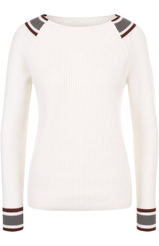 Купить Кашемировый пуловер фактурной вязки Loro Piana, FAI0290, Италия, Белый, Кашемир: 100%;
