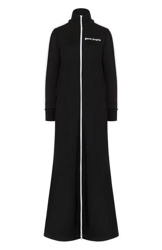 Купить Пальто свободного кроя с воротником-стойкой Palm Angels, PWBD002R183840171001, Италия, Черный, Полиэстер: 100%;