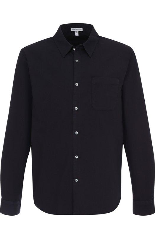Купить Хлопковая рубашка с воротником кент James Perse, MRSP3136, Китай, Темно-синий, Хлопок: 100%;