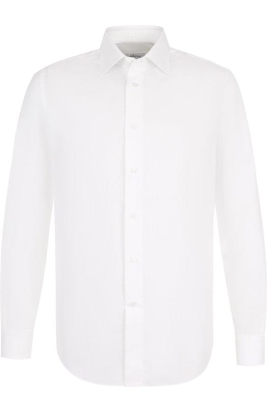 Купить Хлопковая сорочка с воротником кент Brioni, RCL089/PZ014, Италия, Белый, Хлопок: 100%;