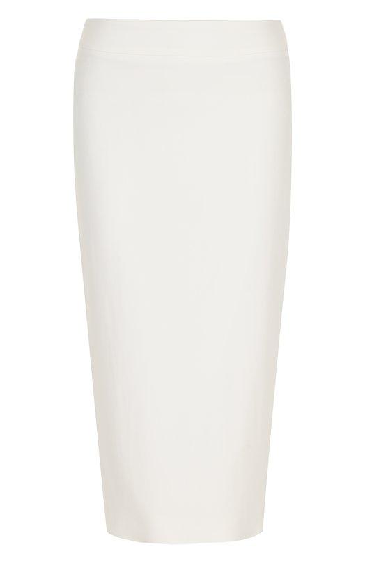 Купить Однотонная юбка-карандаш с разрезом Kiton, D42206K08P7601000, Италия, Белый, Подкладка-купра: 93%; Подкладка-эластан: 7%; Вискоза: 65%; Ацетат: 32%; Эластан: 3%;
