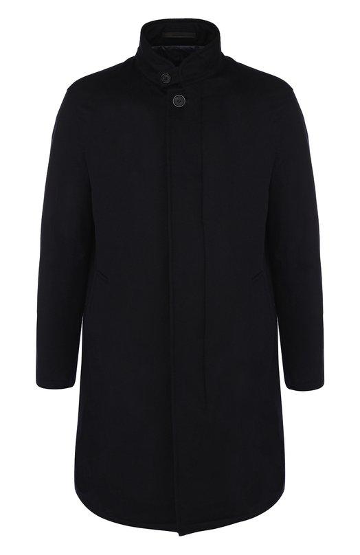Купить Кашемировое пальто на молнии с воротником-стойкой Giorgio Armani, WSI31W/WS937, Италия, Синий, Кашемир: 100%; Подкладка-полиамид: 100%;
