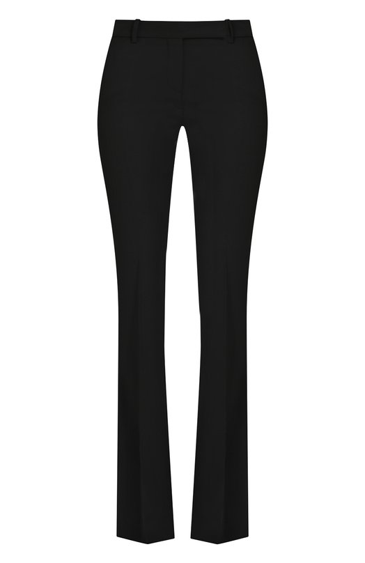 Купить Шерстяные расклешенные брюки со стрелками Alexander McQueen, 308721/QKJ12, Италия, Черный, Шерсть: 100%;