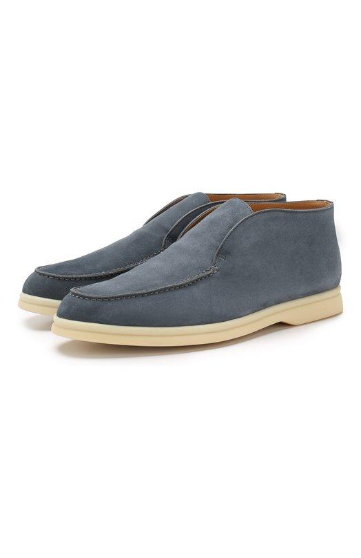 Купить Замшевые ботинки Open Walk Loro Piana, FAE9959, Италия, Голубой, Стелька-кожа: 100%; Подошва-резина: 100%; Замша натуральная: 100%; Подкладка-кожа: 100%; Кожа: 100%; Низ-кожа: 100%;