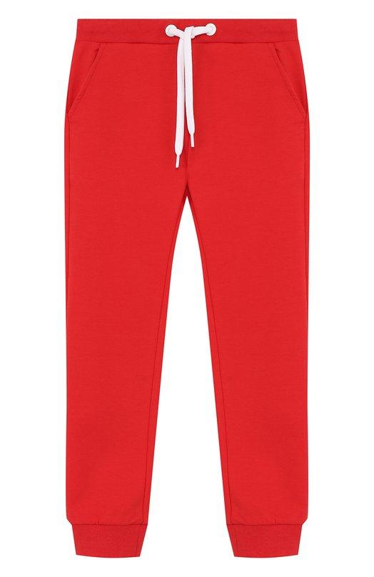 Купить Хлопковые джоггеры на кулиске Fendi, JFF080/8RA/2A-5A, Португалия, Красный, Хлопок: 95%; Эластан: 5%;