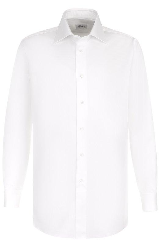 Купить Хлопковая сорочка с воротником кент Brioni, RCL885/PZ042, Италия, Белый, Хлопок: 100%;