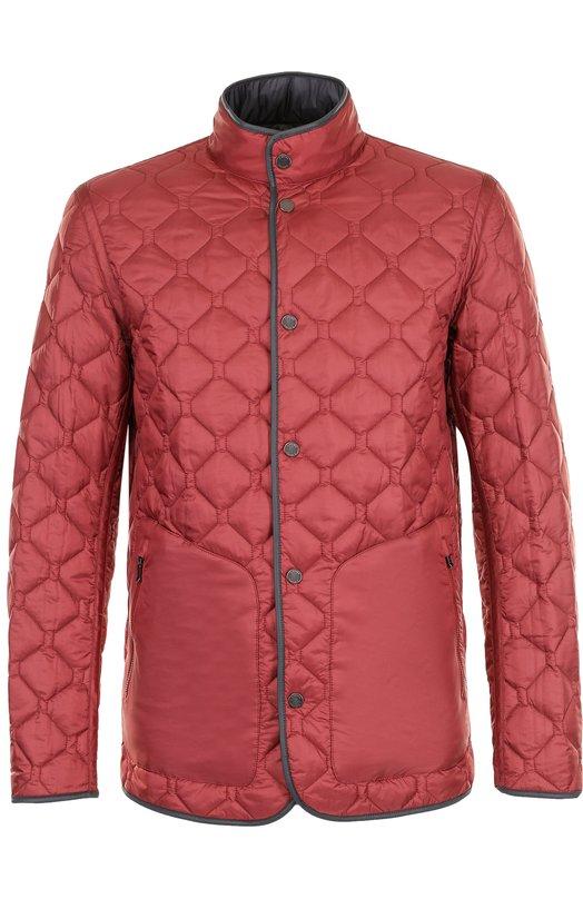 Купить Двусторонняя стеганая куртка на кнопках Z Zegna, VP010/ZZ124, Китай, Бордовый, Полиамид: 100%; Подкладка-полиамид: 100%;