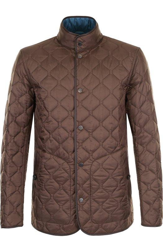 Купить Двусторонняя стеганая куртка на кнопках Z Zegna, VP010/ZZ124, Китай, Оливковый, Полиамид: 100%; Подкладка-полиамид: 100%;