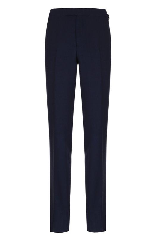 Купить Шерстяные брюки прямого кроя Tom Ford, 322R75/610043, Швейцария, Темно-синий, Шерсть: 100%; Подкладка-купра: 100%;