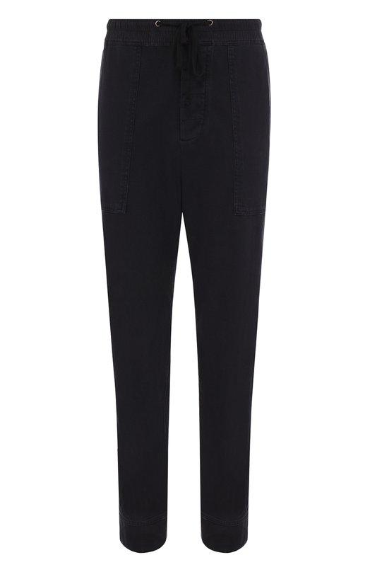 Купить Хлопковые брюки прямого кроя James Perse, MDNW1185, Китай, Темно-синий, Хлопок: 100%;