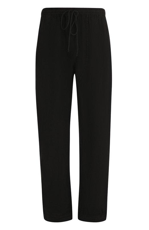 Купить Льняные брюки свободного кроя с заниженной линией шага Lost&Found, 20.339.646R, Италия, Черный, Лен: 100%;