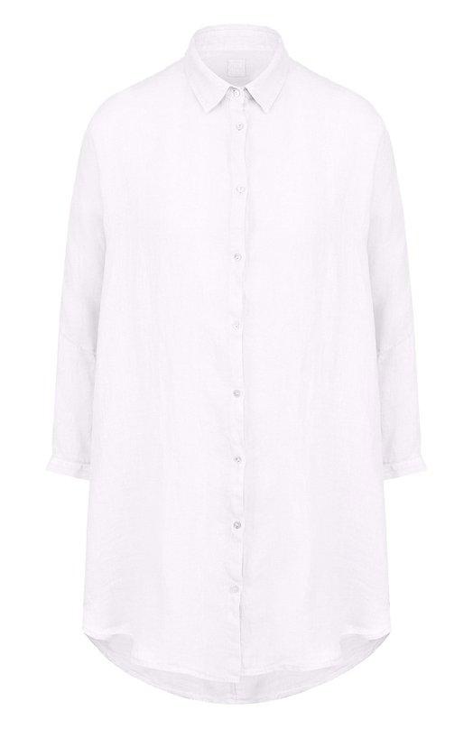Однотонная льняная блуза свободного кроя 120% Lino, N0W1290/D703/000, Болгария, Белый, Лен: 100%;  - купить