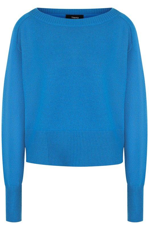 Купить Кашемировый пуловер с вырезом-лодочка Theory, H0818703, Китай, Синий, Кашемир: 100%;