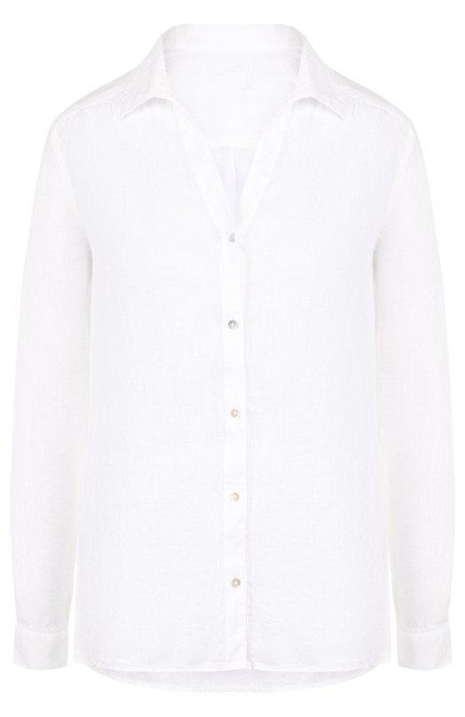 Купить Однотонная льняная блуза 120% Lino, N0W1172/B317/000, Болгария, Белый, Лен: 100%;