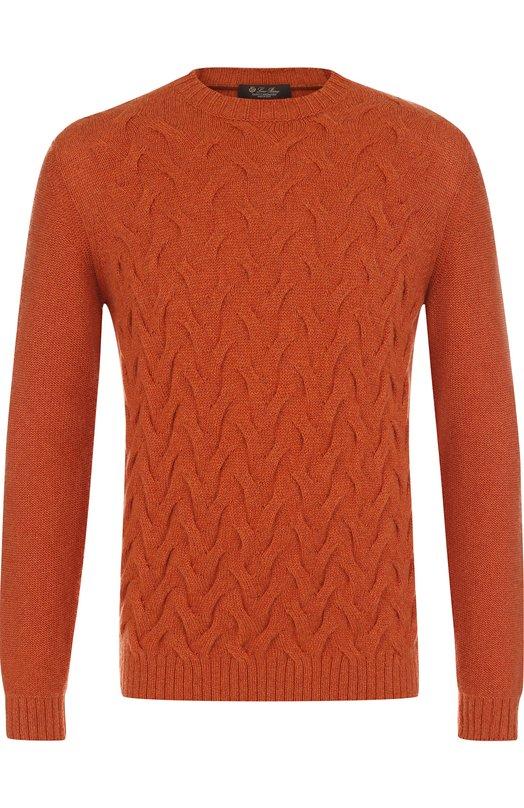 Купить Кашемировый свитер фактурной вязки Loro Piana, FAG3443, Италия, Оранжевый, Кашемир: 100%;