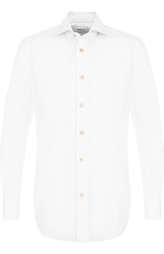 Купить Хлопковая сорочка с воротником акула Kiton, UCIH000420100A, Италия, Белый, Хлопок: 100%;