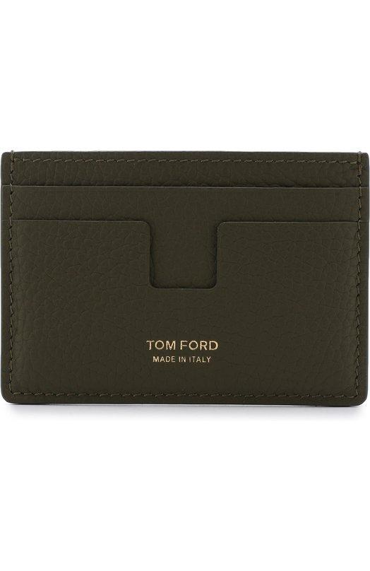 Купить Кожаный футляр для кредитных карт Tom Ford, 118Y0232T-C95, Италия, Оливковый, Кожа натуральная: 100%;