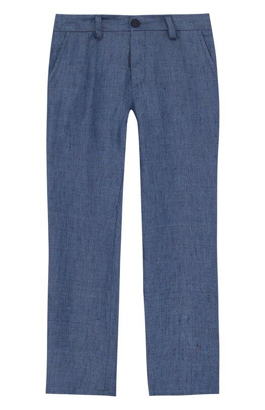 Купить Льняные брюки прямого кроя Dal Lago, N110D/8438/3-6, Италия, Голубой, Лен: 100%;