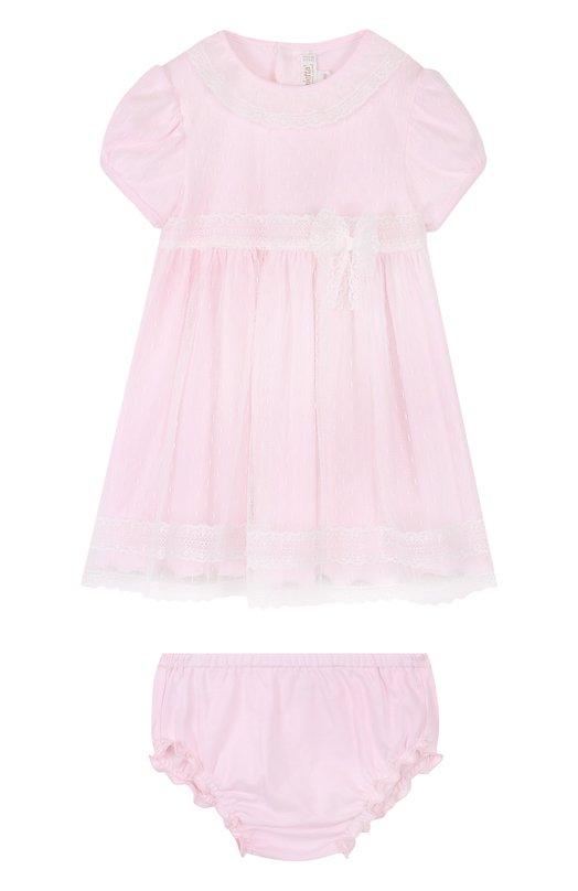 Купить Хлопковый комплект из платья и трусов Aletta, RB88377/24M, Италия, Розовый, Хлопок: 100%; Полиамид: 100%;