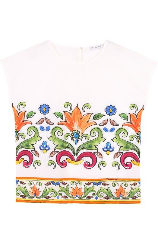 Хлопковый топ с принтом Dolce & Gabbana